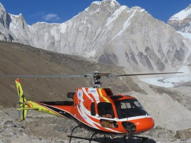 EBC heli suttle trek