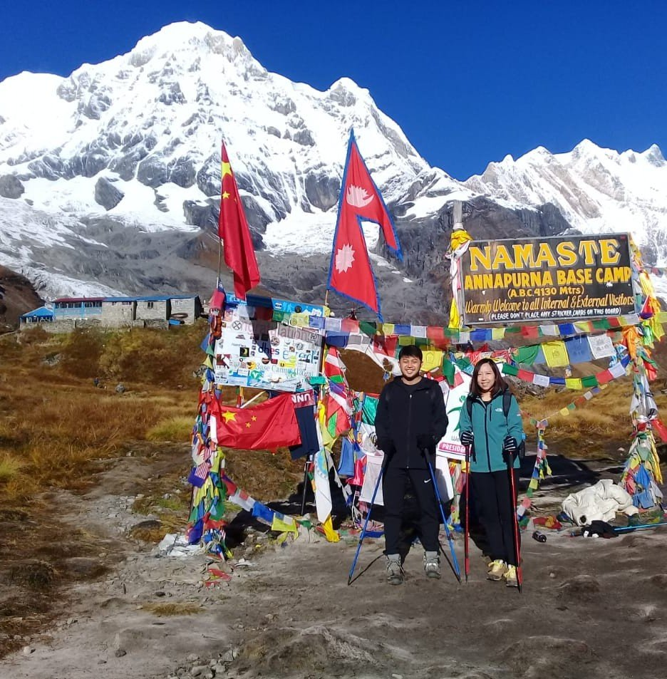 Our Group enjoying at the Annapurna base Camp